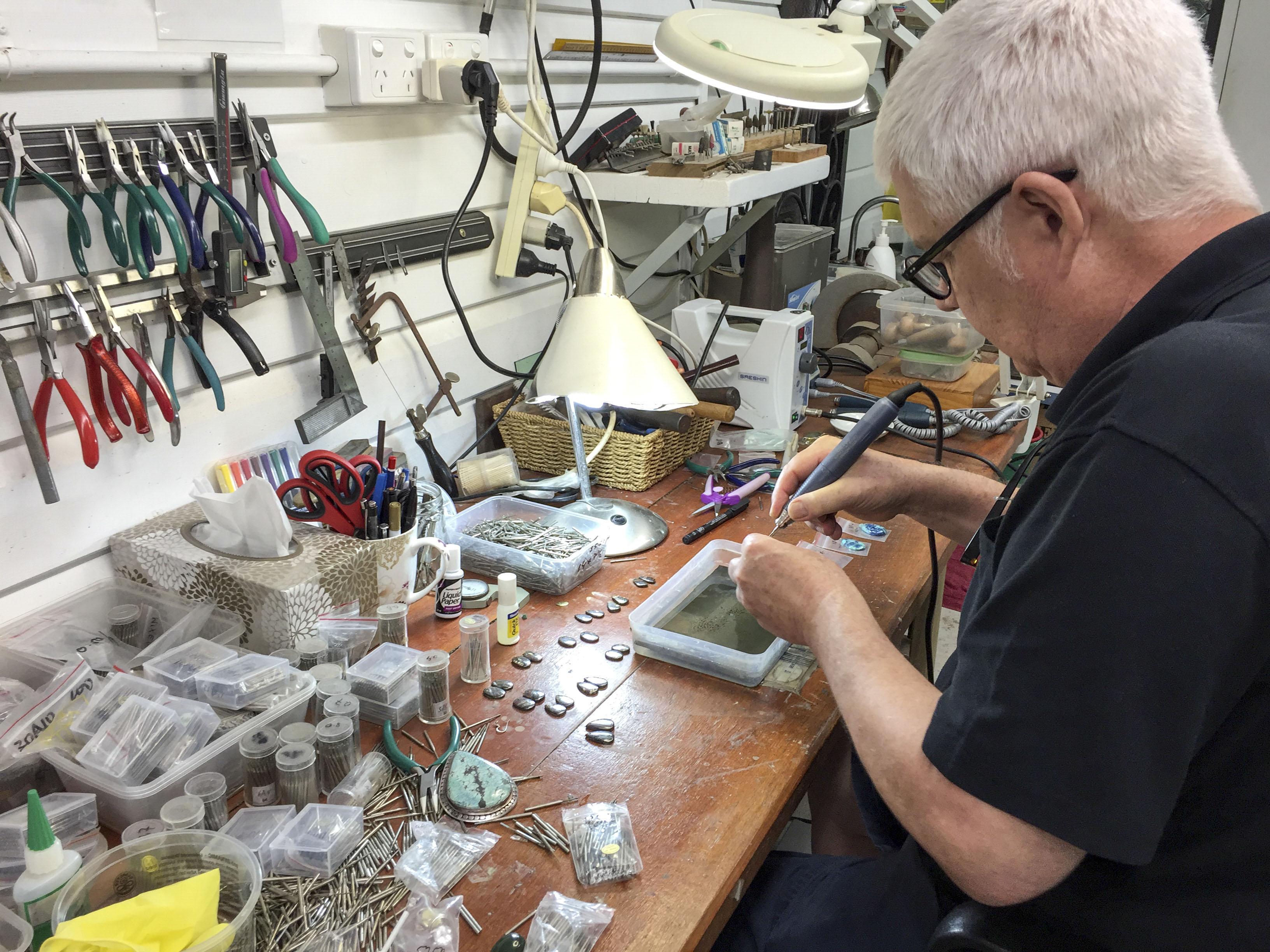 Crystal jewellery creation