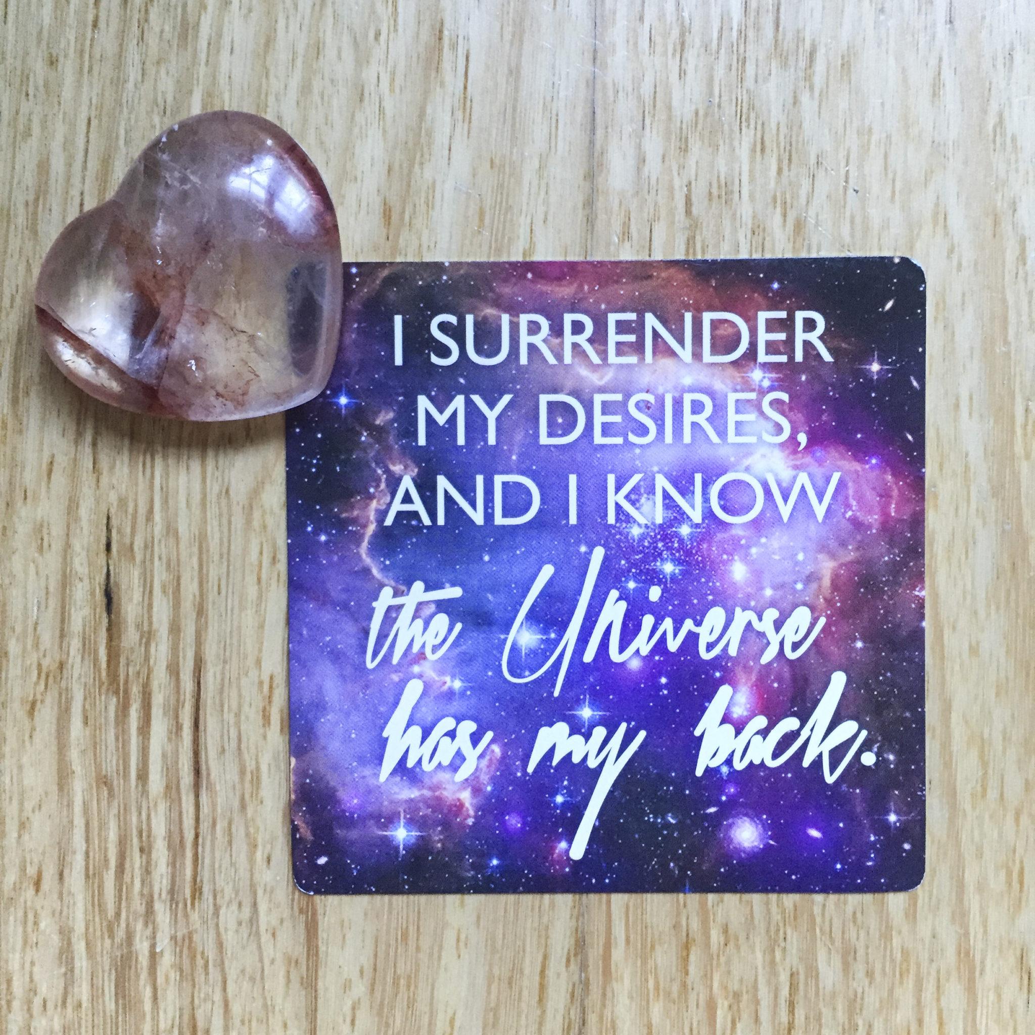 Surrender my Desires