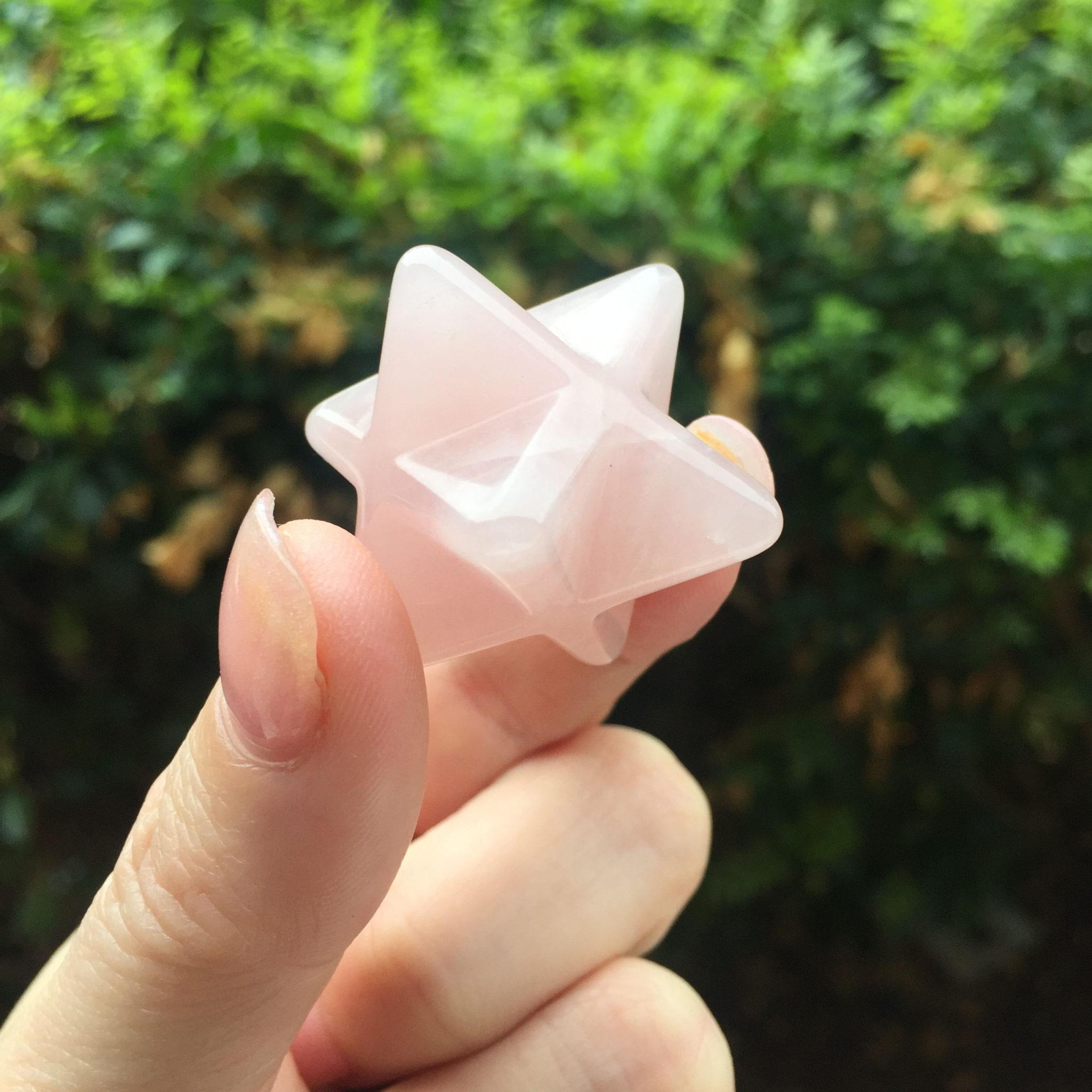 rose quartz merkaba